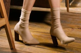 Soft flesh-coloured ankle boots